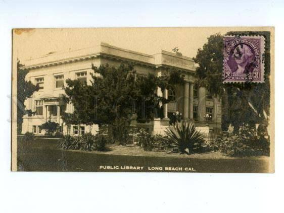 138263 USA California LONG BEACH Public Library Vintage PC