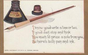 Pen & Ink Poem , 1909