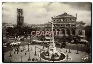 Modern Postcard Paris And Wonders Place Du Chatelet and Tour Saint Jacques