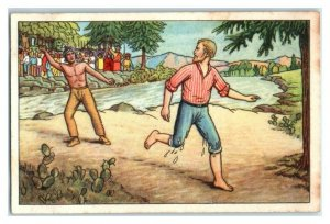 Old Shatterhand Escapes & Counter-Attacks Echte Wagner German Trade Card