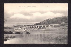 VT Vintage Wilder Station Dam in Wilder Vermont Postcard PC