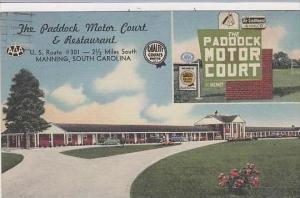 South Carolina Manning The Paddock Motor Court &  Restaurant
