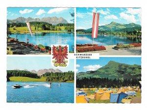Austria Schwarzsee Lake Kitzbuhel Alps Tyrol Multiview Watersports 4X6 Postcard