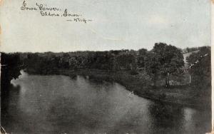 Eldora Iowa River Scene~1910 Bluesky C U Williams Photoette Postcard