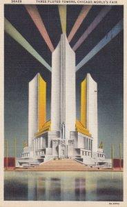 CHICAGO , Illinois , 1930s ; World's Fair , Three Fluted Towers