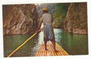 Rafts man on the Rio Grande, Jamaica, 40-60s