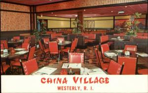 Westerly RI China Village Chinese Restaurant Postcard