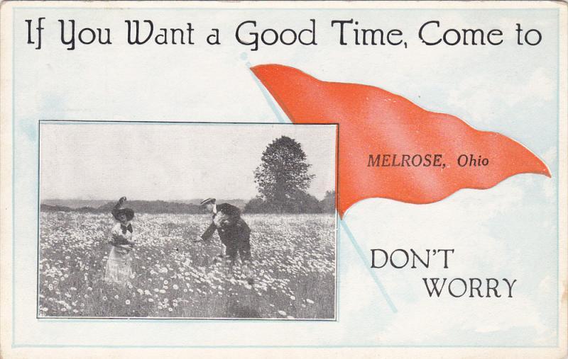 Couple Picking Up Sunflowers. MELROSE, Ohio, 1910-1920s