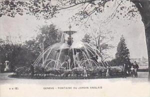 Switzerland Geneve Fontaine Du Jardin Anglais