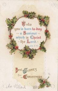 Glitter detail, Unto you is born to-day a Saviour which is Christ the Lord, B...