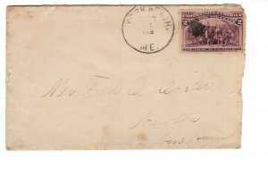 Cover, Landing of Columbus Stamp Cover, Maine, United States,
