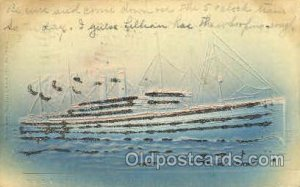 R.M.S. Baltic Ship Shps, Ocean Liners, 1906 writing on top edge, glitter on f...