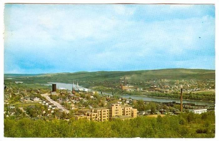 Hospital, the Saint H=John river and Madawaska, Maine, Edmundston, New Brunsw...