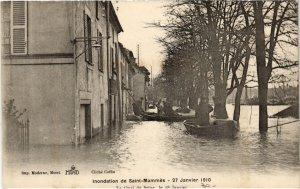 CPA St-MAMMES Inondations Quai de Seine (977771)