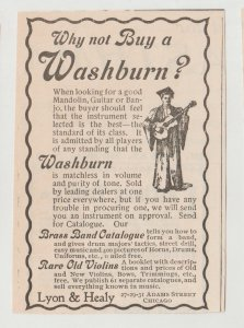 Washburn Musical Instruments 1896 Print Ad, Graduate Playing Guitar