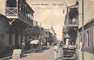 Lourenco Marques Rua Araujo Mozambique Street View Postcard