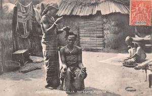 Northern Nigeria Kogi, Lokoja, Hairdressing, Barbier 1908