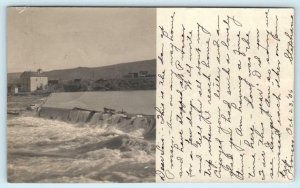RPPC  PROSSER, Washington WA ~ View of DAM  Benton County 1906 Postcard