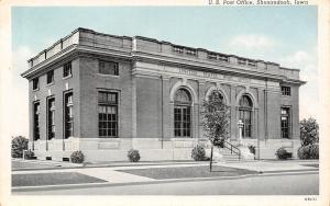 Shenandoah Iowa~New Tree on the Parking~US Post Office~Blusky 1940
