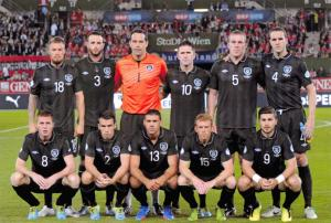 Football Soccer Postcard Ireland National Team September 2013 v Austria 45K