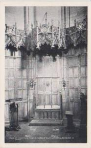 Interior View Chair of Investiture, Thistle Chapel, St. Giles Cathedral, Edin...