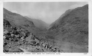 Snowdon The Pass of Llanberis from Above the Gorphwysfa Hotel Postcard