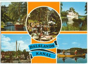 Sweden, Dalslands Kanal, used Postcard