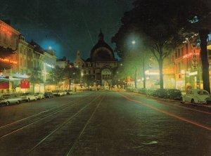 Avenue De Keyser Anvers Antwerp Belgium Night Illuminations Postcard