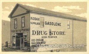 Drug Store, Glade Spring Pharmacy, Glade Springs, VA, USA Writing on back