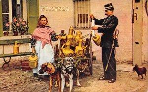 Dairy Related Post Card Milk Inspector Brussels Unused