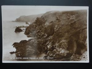 Guernsey LE GOUFFRE Looking Towards La Corriere - Old RP Postcard