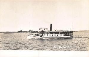 Maine Steam Ship Ferry Aucocisco RPPC Postcard