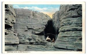 Early 1900s Coopers Cave, Glen Falls, NY Postcard
