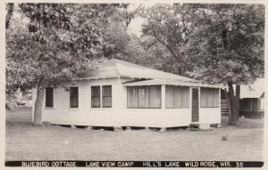 RP: WILD ROSE , Wisconsin , 1954; Bluebird Cottage, Lake View Camp, Hill's Lake