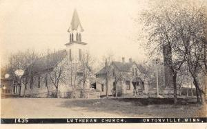Ortonville Minnesota Lutheran Church Real Photo Antique Postcard K103778