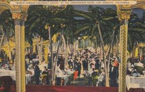 LOS ANGELES, California, 1930-40s; World Famous Cocoanut Grove At The Ambas...