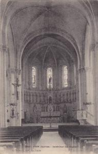 Interior Of Church, Interieur De l'Eglise, Vion (Sarthe), France, 00-10s