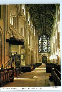 UK United Kingdom Inside Interior View Norwich Cathedral 4x6 Postcard A49