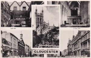 RP; GLOUCESTER, Gloucestershire, England, PU-1951; 5-Views, The New Inn, The ...