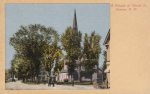 CANAAN, New Hampshire, 1900-1910s; A Glimpse Of Church Street
