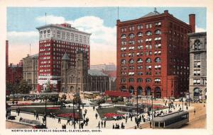 North Side of Public Square , Cleveland, Ohio, Early Postcard, Unused