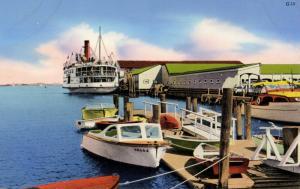 MA - Nantucket. Steamboat at the Wharf
