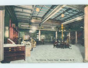 Divided-Back POWERS HOTEL ROTUNDA Rochester New York NY B3149