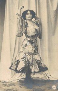Beautiful Woman Dancer RPPC 04.76