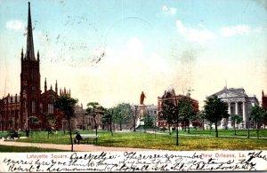 Louisiana New Orleans Lafayette Square 1906