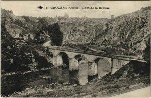 CPA CROZANT Pont de la Creuse (1143848)