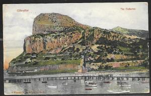 1907 Gibraltar, The Gallaries, mailed paquebot in England
