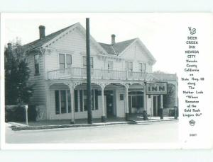 Pre-1950 rppc INN Nevada City By Colfax & Grass Valley & Yuba City CA i9926