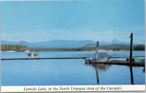 Lemolo Lake in North Umpqua Area of the Cascades with Mt. Thielsen