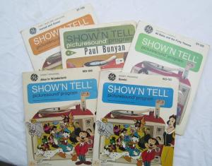5 Older GE Show N Tell Picturesound Prorams Bambi  Others